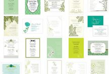 Invitations in green