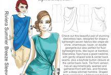 Inspiration: Riviera Summer Breeze Sleeveless Tops / We love this sleeveless tops pattern!