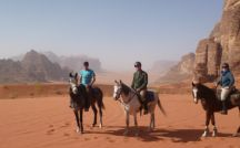Horse riding in Petra and Wadi Rum / Embark on a memorable 10 days horse riding trip across Jordan! Ride through the magnificent ancient Nabatean city of Petra at dawn before visiting the site on foot, canter at full speed on locally bred Arabian horses in the red sand dunes of Wadi Rum desert, and finish your trip by relaxing by the Dead Sea and enjoy floating in its salty waters! Book your trip here: www.zamantours.com