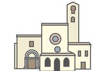 Italia in vettoriale - vectorItaly / I monumenti italiani, rielaborati in chiave flat design :-)  The italian monuments in flat design