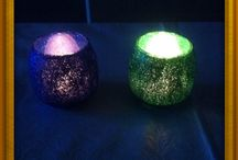 Glitter mania / Home made glitter tea lights