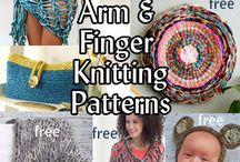 Arm and Finger Knitting and Crocheting / Patterns and directions for how to knit using just your arms or fingers, no needles.