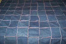 Denim rag quilts