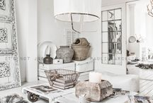 Rustic white home