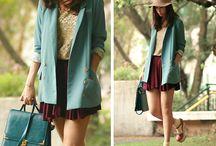 Style in miniskirt