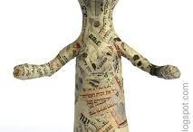 paper mache people
