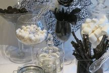 Black Licorice Candy Buffets / We offer candy, cookie and donut  buffets for your social events...anything from weddings to birthdays to showers to engagements to anything in between! Anytime you would like to indulge your guests leave a lasting impression let us make your event just that much sweeter! Now offering custom cake jars! Visit www.blcandybuffets.com