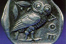 antique coin owls