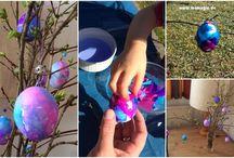 Ostern DIY und Rezepte / Easter Ideas / Selbstgemachtes für Ostern - Ideen für Kinder und Erwachsene.