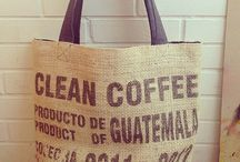 Rij&Tosh / Unique eco-friendly bags. Upcycle-bags made of wonderful coffee sacks with original prints from all over the world.