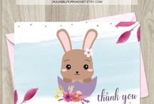 Thank you cards and pages / Thank you cards, pages and tags for birthday party, baby showers, wedding party or include in your order packages if you're a seller!