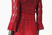 vestido de crocher vermelhos