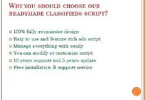 Readymade Classifieds Script / Our Readymade Classifieds Script allows you to quickly create and manage your own free classifieds site. You can provide free advertising for items for sale, real estate and etc.