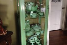 retro metallic cabinet