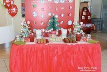 ..Merry Xmas.. Arbre de noël enfants / Sweet table  www.babypopsparty.com/en-image