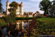 Wojanów - Pałac / Pałac w Wojanowie.  Powstał około XVI wieku, wybudowany przez rodzinę von Zedlitz. Często zmieniał właścicieli i kształt (początkowo renesansowy, spalony przez Szwedów, odbudowany jako barokowy, przebudowany w klasycystcznym stylu neogotyku). Obecnie mieści się w nim hotel i SPA, jest również udostępniany do zwiedzania.