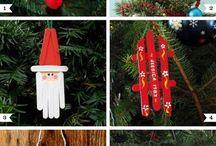 Christmas crafts with ice cream sticks