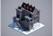 low poly castles
