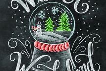 рождественские рисунки