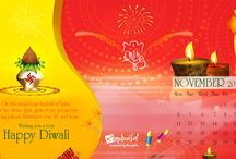Diwali Calender / May the festival of lights be the harbinger of joy and prosperity. As the holy occasion of Diwali is here and the atmosphere is filled with the spirit of mirth and love, here's hoping this festival of beauty brings your way, bright sparkles of contentment, that stay with you through the days ahead.  Best wishes on Diwali and New year!!!!