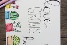 Watercolour/ doodles