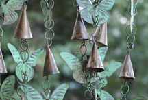 Metal wind chimes (Butterfly) / For a school project