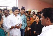 Surprise visit to Tenkasi govt hospital by AISMK Party President
