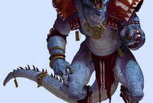 lizardman, dwarfs