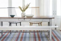 Inspiration || Dining Room Ideas / The dining room is often the focal point when entertaining or eating with family and friends. There is an opportunity to  wow with furniture, lighting and of course fabulous flooring.  Here are some of our favourite dining room decor ideas.