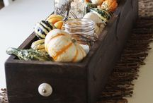 Thanksgiving dinner tables!