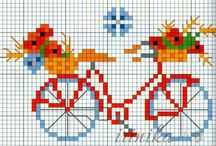 Cross stitch bisiklet
