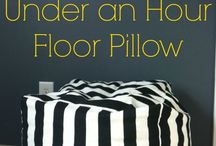 Under One Hour Floor Pillow #sewing #decor / Under One Hour Floor Pillow #sewing #decor