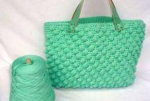 Crochet/Πλεκτες τσαντες/καπελα με βελονακι