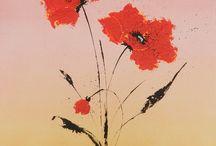 La ronde des Coquelicots/Poppies / Tableaux home Déco ; peintures ; jolies photos ; Déco d'objets,... Sur le thème des coquelicots.