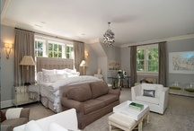 Bedrooms / Master bedroom, beds, headboards, grey, neutral, suite, modern, clean, contemporary