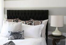 gray bedroom / by Susan Marquez