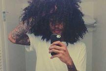 men afro hair