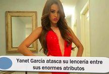 Yanet García atasca su lencería entre sus enormes atributos