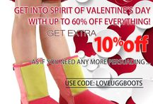 Happy Valentine's Day / Don't go for the same old bunch of flowers or box of chocolates this Valentine's Day, give your loved one a gift that they'll fall in love with and show how well you know them. Surprise them with something special to show that you care, take advantage of our additional 10% off all Ugg Boots this Valentine's Day.