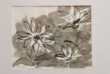 Animaux, ustensiles, autres... ! / Peinture/aquarelle/encre/dessin
