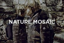 Nature Mosaic / A style breaking away from the rules of ordinary military camouflage - with a less defined, aggressive pattern and tone colour / by Moncler