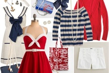 Naughty Nautical / Ahoy there matey! Set sail this summer in style with one of the hottest trends this weekend. Here are some fashion ideas and looks you Naughty Nautical!