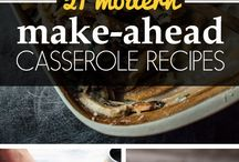 Casseroles / Casseroles that can be frozen ahead of time and taken out on PTA nights or after teacher's conferences.
