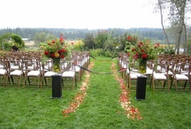 Ceremony Seating / Wedding ceremony seating in the round and down the aisle as suggested by Whidbey Party Girls