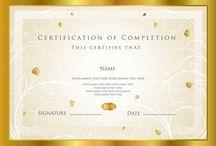 Сертификаты: шаблоны, идеи, примеры.