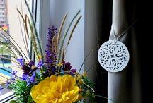 Цветы дома / Композиции выполнены из искусственных цветов нового поколения, из эко - силикона