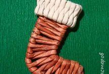 Pletení papír - Vánoce