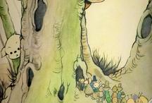 동화(같은 느낌)(손 그림) / 동물그림이든 인물 그림이든 동화느낌의 그림
