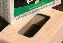 box tisu kayu