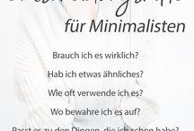 Minimalismus / Alles rund um Minimalismus